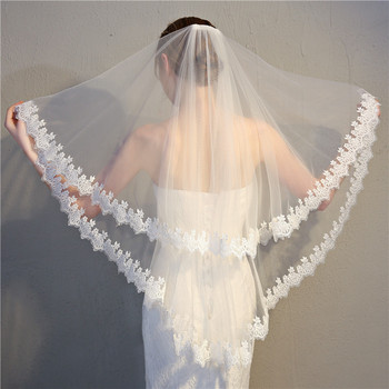 TS17148 wedding veil short bridal fashions tulle flower veil women