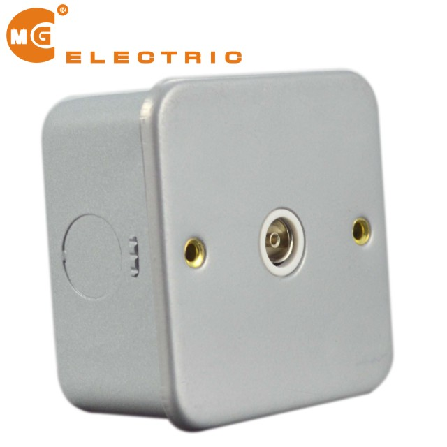 For factory powder coated finish metal clad tv socket outlet