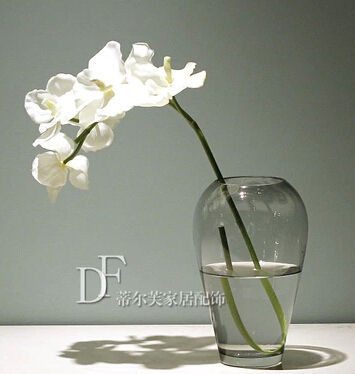 Clear glass vase fashion mermaid tears 2 / flower vase insert modern vase / modern minimalist home decor
