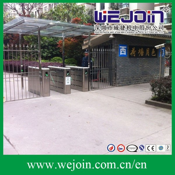 entrance control system automatic gate,automatic flap for access control bi-directiona Stainless steel l swing turnstile/