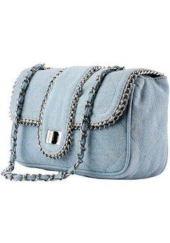 Denim Clutch Blue Designer Handbags Bags