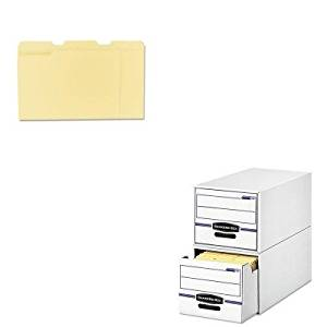 KITFEL00722UNV12113 - Value Kit - Bankers Box Stor/Drawer File Drawer Storage Box (FEL00722) and Universal File Folders (UNV12113)