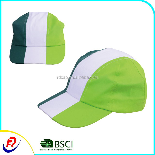 dd4abdf43812f Greeen white summer 3 panel cycling cap bicycle running sport promotion  cheap factory wholesale snapback baseball