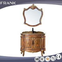Frank made in china fancy marble top units wood waterproof 4 feet bathroom vanity cabinet for sale