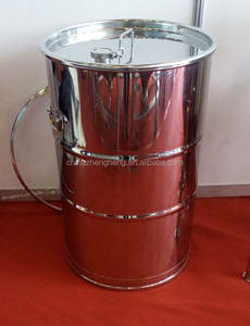Customizing perforated stainless steel drumwith clamp lid/200L-500L Drum