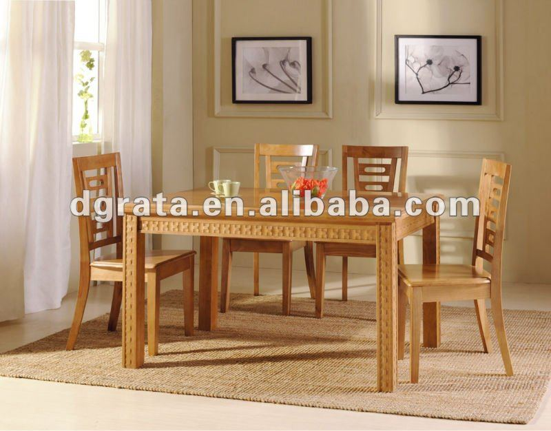 2012 New Design Malaysia Rubber Wooden Dining Table For Dining House  Furniture Suit - Buy Malaysia Dining Table,Chunky Wood Tables,Flower Table  Product on ...
