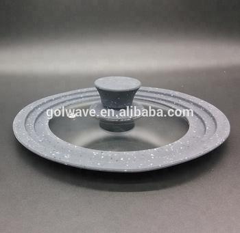 Glas Bratpfanne fda oder lfgb multi größen silikon glas deckel,glas bratpfanne