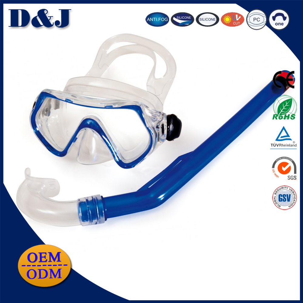 High Quality Wholesale Silicone PVC Glass Lens Diving Mask Driving Snorkel Junior Set