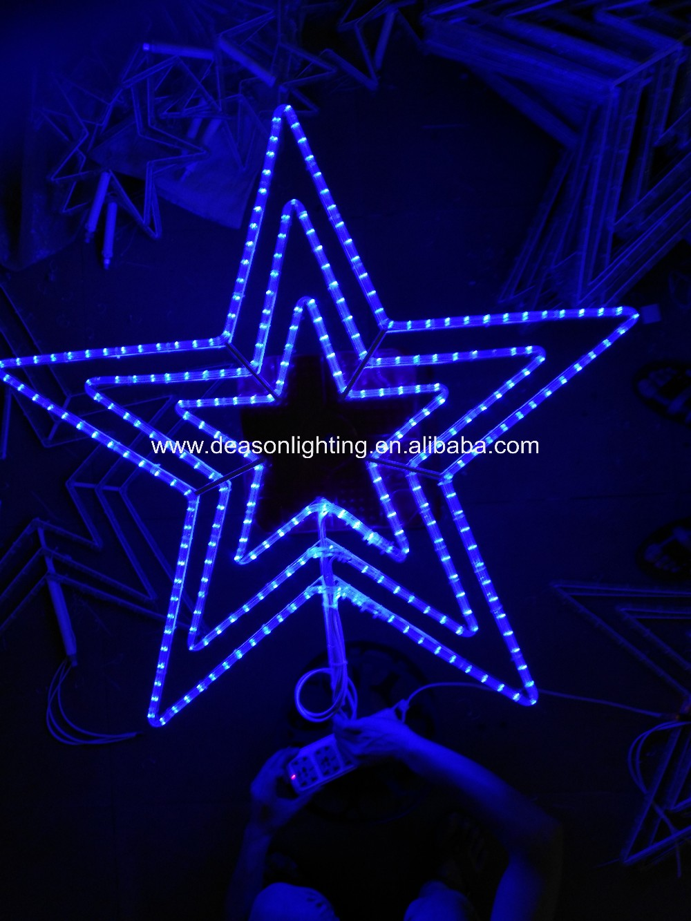 Outdoor Christmas North Star Lights - Buy Five-pointed Lighted Star ...