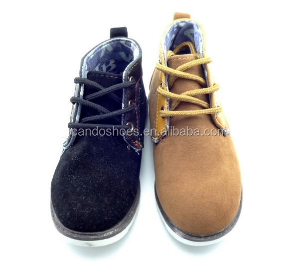 2019 New Casual Style Safety Boots Suede 가죽 Boy Dress 슈