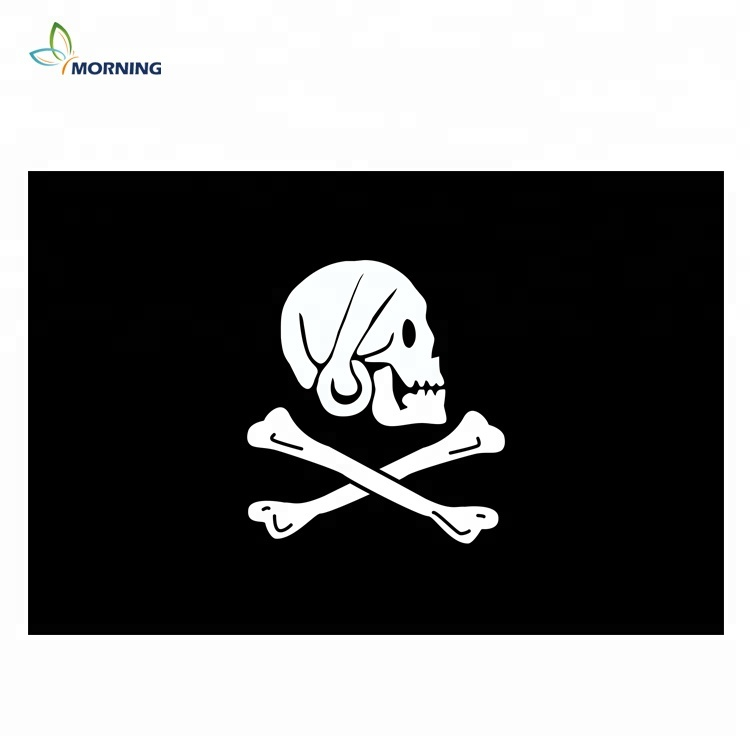 Will Work For Rum/' 5/'x3/' Flag ! Pirate Jolly Roger Crossed Swords /'For Hire