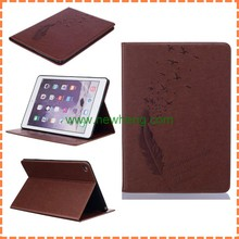 New design leaf pattern wallet leather case for ipad air 2