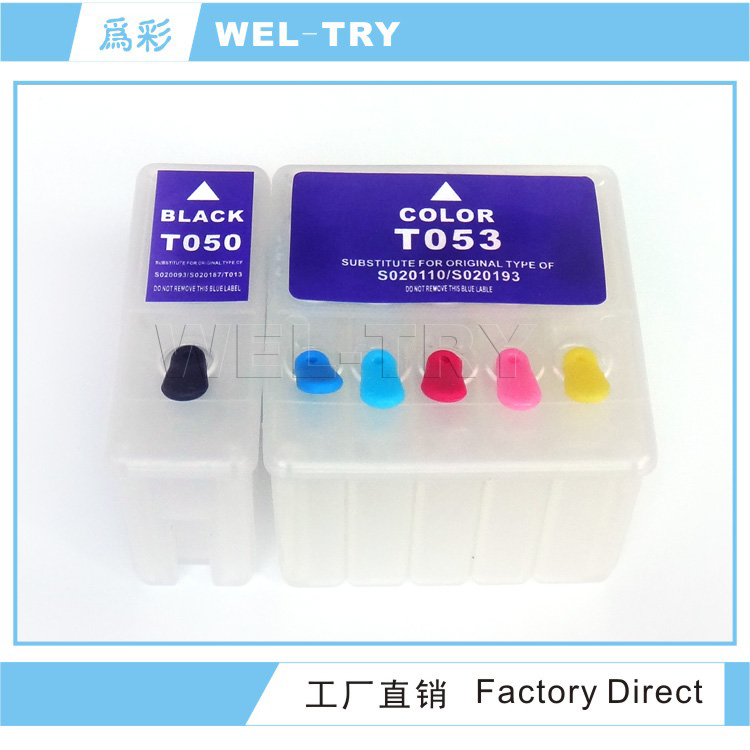 T050,T053(S093,S110; S187,S193) inkjet cartridge for use on EX3,750,720;EX,EX2,700,710