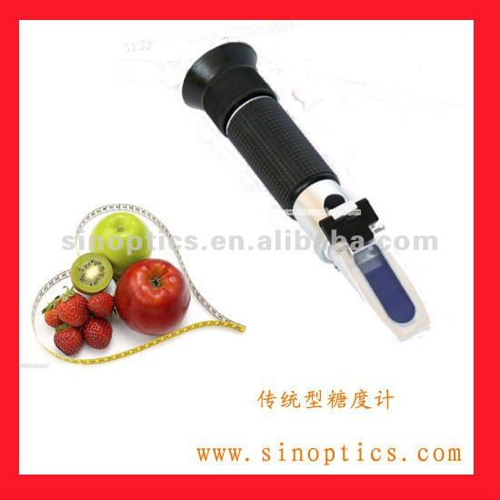 CE approve Hand held 28~62% refractometer juice brix RHB-62ATC