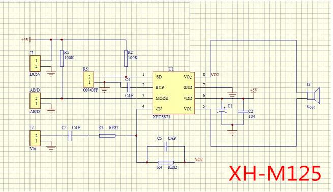 3 7v 5v Dc Power Amplifier Stereo Sound Standard Mono Single Channel