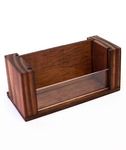 Desktop Display Stand, Wood Business Card Holder