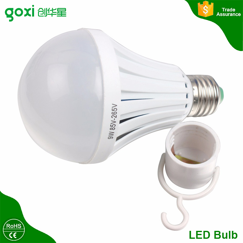 China Factory Alibaba Wholesale AC220V 85-265V White / Warm White E27/B22 Emergency Led Light With Rechargeable Battery