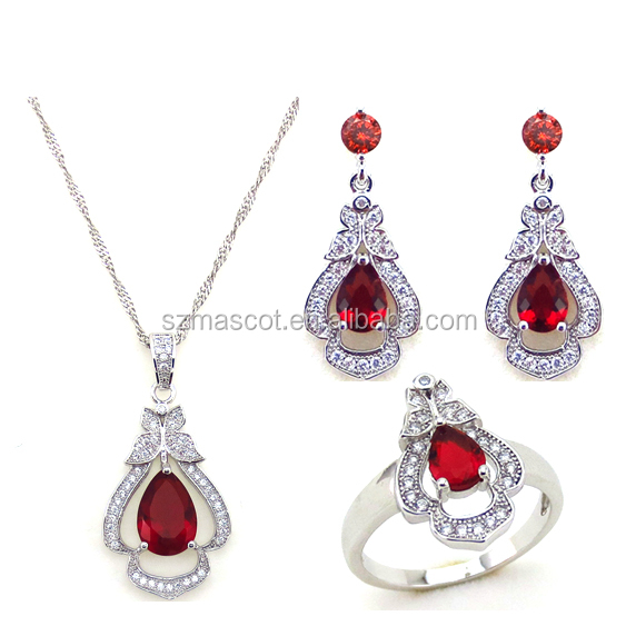 2016 summer series fashion 925 sterling silver bridal jewelry set