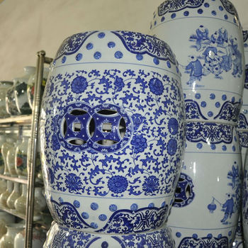 Cheap Antique Chinese Blue And White Porcelain Garden
