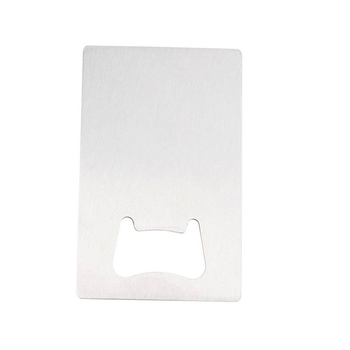 Wholesale stainless steel blank credit card beer metal hardware bulk bottle opener with custom logo