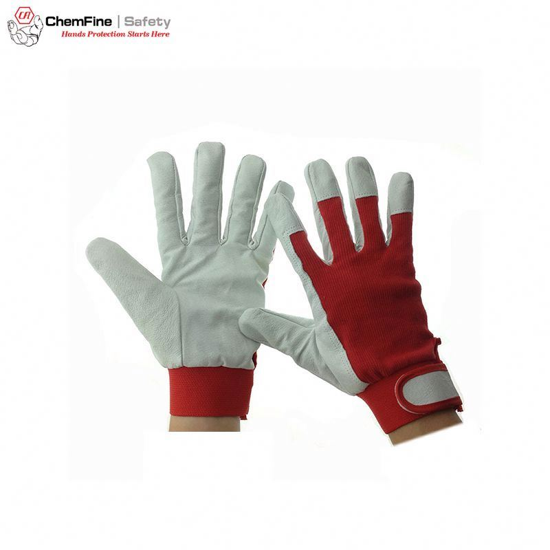 10.5' Soft Pigskin leather driver gloves cut resistant