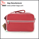 Strong Canvas Messenger Bag Polyester Cross Shoulder Bag in red Color