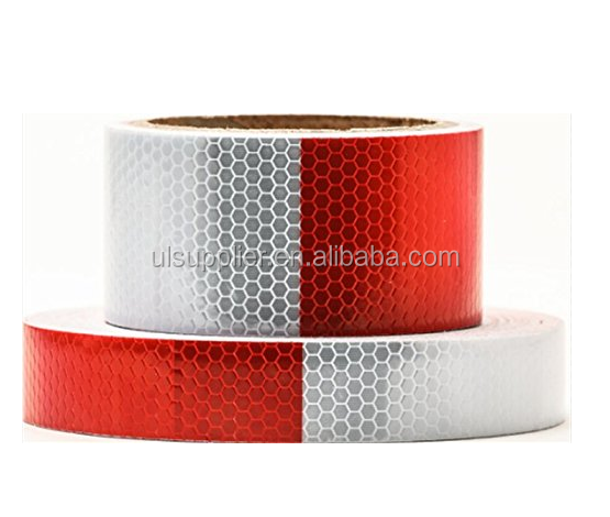 SRT9001 Trailer Truck Reflective Tape, Red & White, 2 Inches by 5 Yards