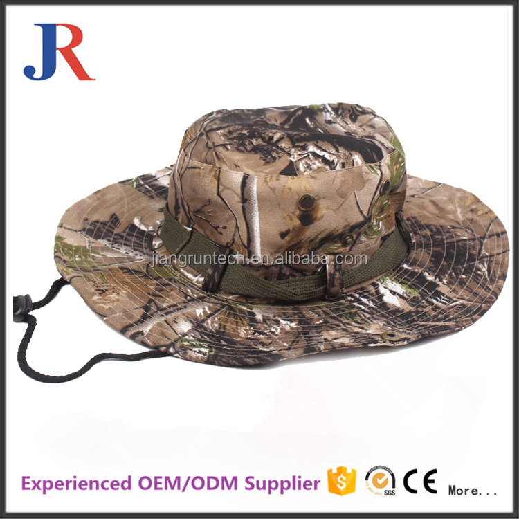 mandy hot sale custom wide brim sun visor hat desert camo army woodland bucket cap for men