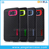 2 in 1 made in china carbon fiber phone case for samsung galaxy s6 tpu cell phone