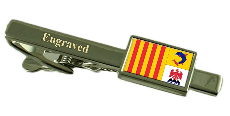 Nord Pas De Calais Province France Gold-tone Flag Cufflinks Engraved Box