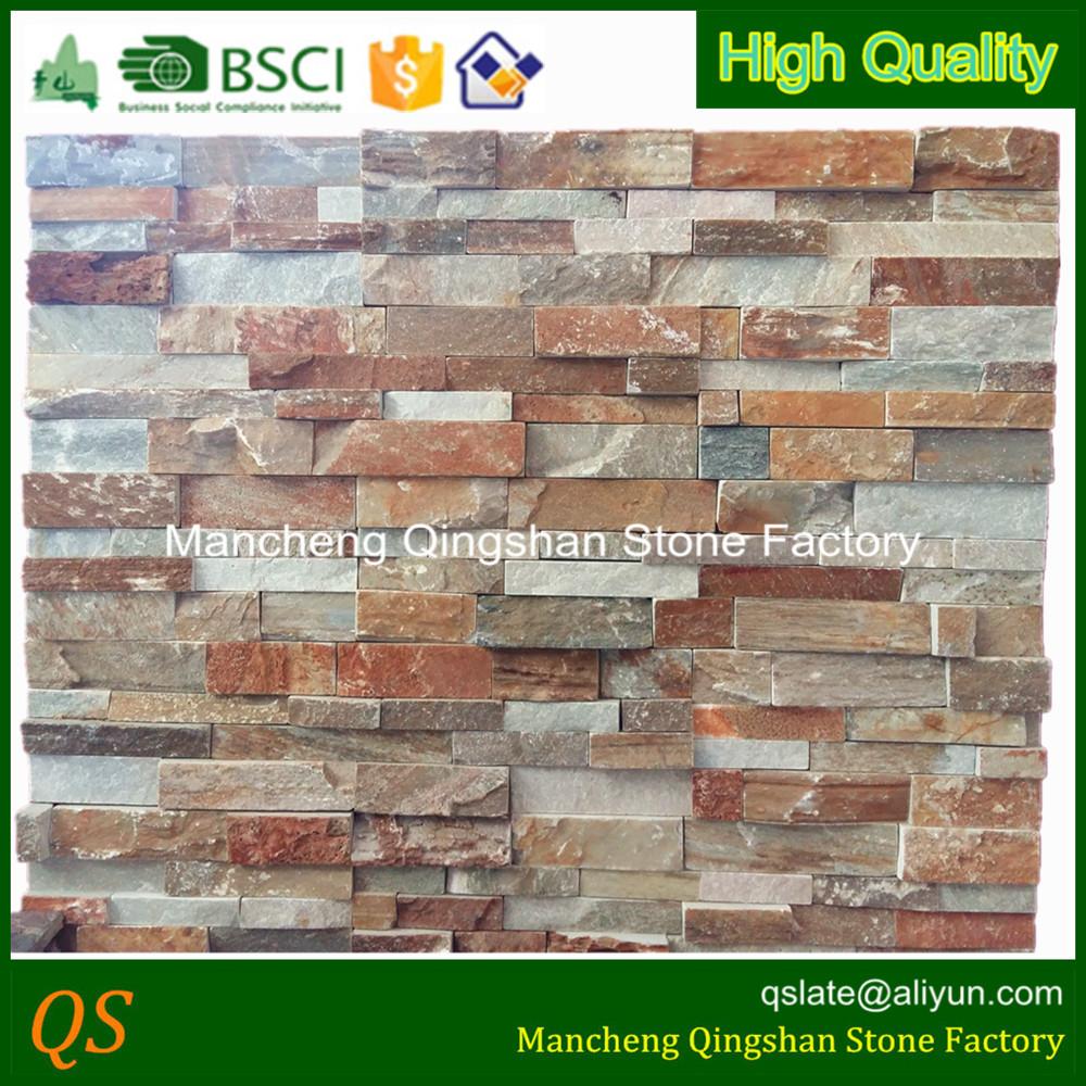 fachada de muro de piedra de la pared de chapa de piedra