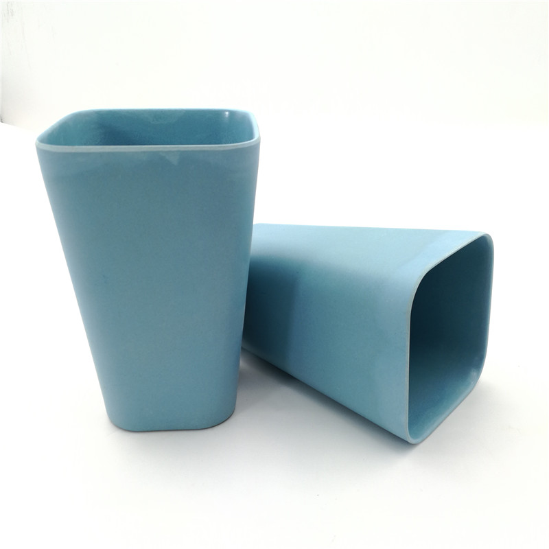 FDA and LFGB certificates ISO9001 quality system bamboo fiber square cups