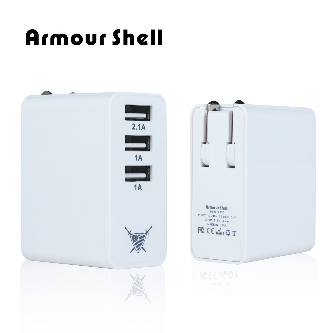 3 Port Micro USB Wall Charger, 2.1 Amp 5v Multi Charging Dock, FREE Dual Car Adapter, Power Cord, Phone Kickstand & Lens Cleaner Included! Travel Size Fits Apple iPhone 5, 6, 7, iPad, Kindle, etc.