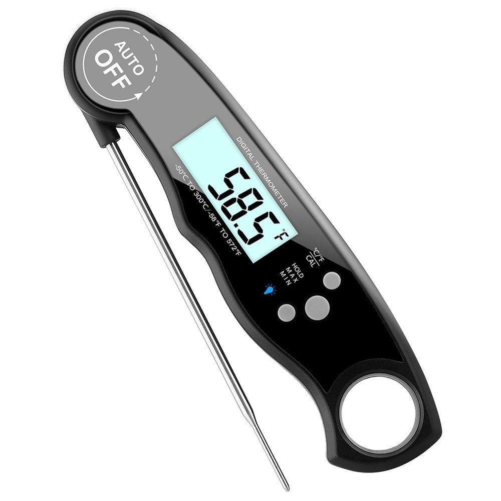 Digital waterproof instant read meat thermometer for home cooking фото