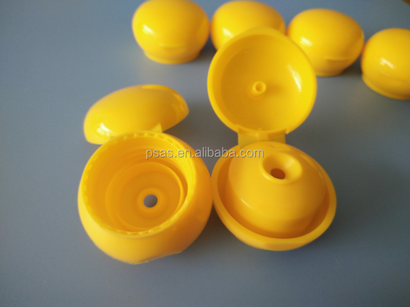 20 410mm Plastic round bottle flip top cap with circle ring