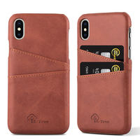 For iphone x case leather wallet credit card slot cell phone case for iphone x