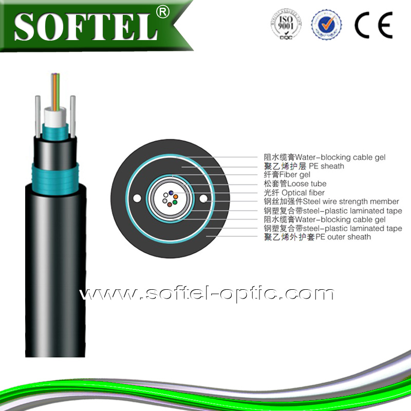 [Skype:softel009] GYXTW53 outdoor armored fiber,armored 6 core fiber optic cable/armored fiber optic with messager