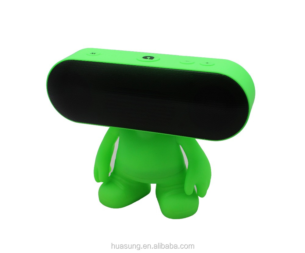 2016 kids gift alien cartoon wireless speaker support hands-free function