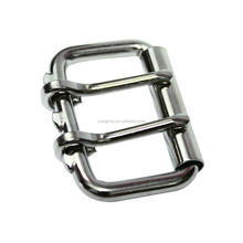 Metal Roller buckle With 2 Pins double prongs roller buckle