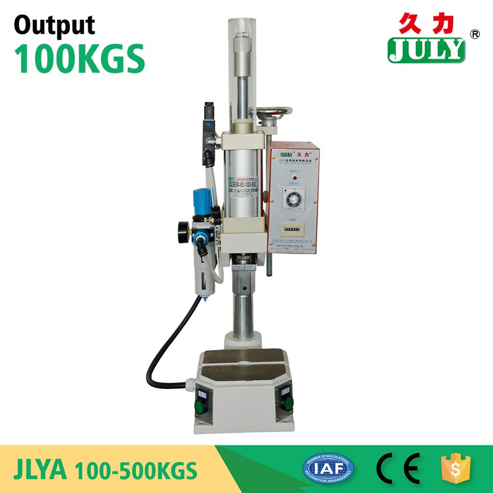 JULY pneumatic air hand punching eyelet press machine