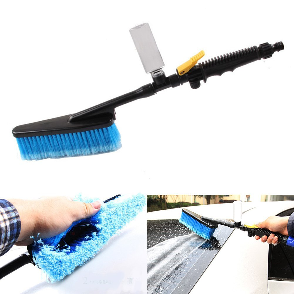 Smilingtree,Car Wash Brush Truck Telescoping Handle Extendable Cleaning Vehicle Tool,cleansing brush