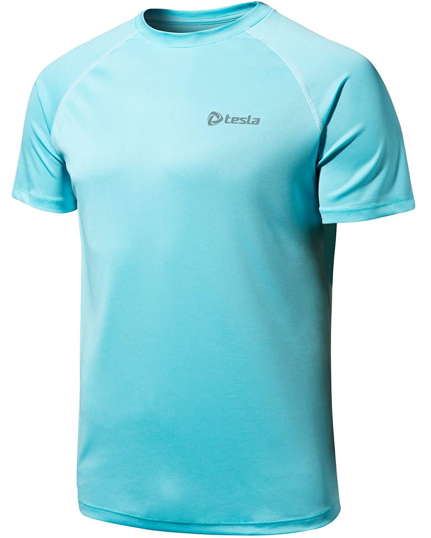 Tesla Men & Women's HyperDri Short Sleeve T-Shirt Athletic Cool Running Top MTS03/WTS05