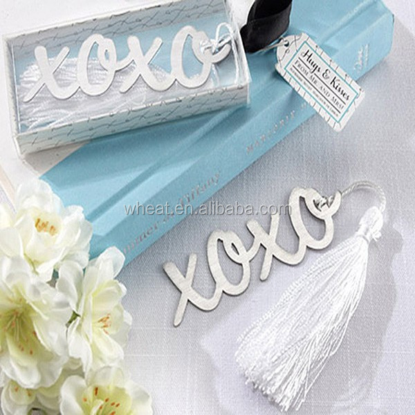 Hugs & Kisses From Mr and Mrs Silver Finish XO Bookmark