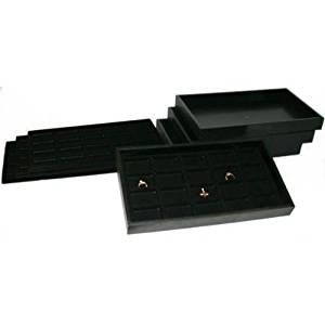 GHP 80 Slot Body Jewelry Part Display Storage w 4 Black Trays Inserts