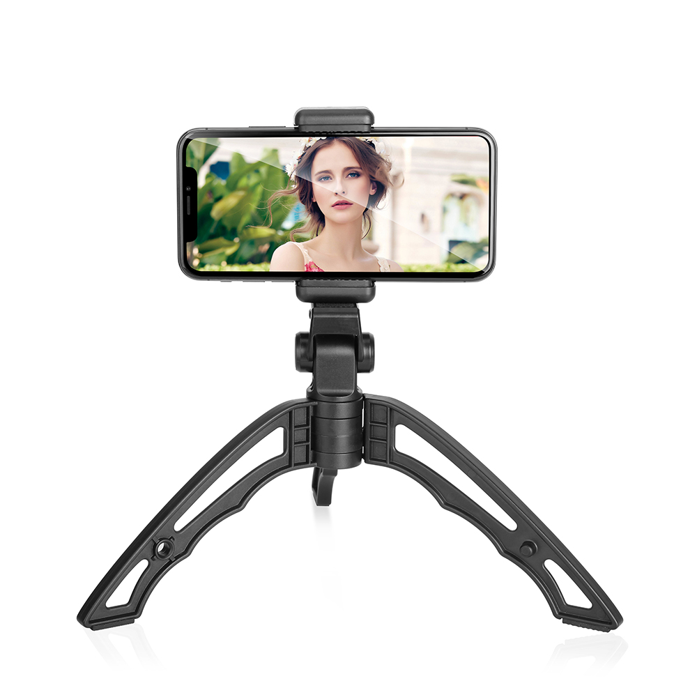 2018 New lHOSHI-TRI Multi-directional tripod flexible handheld grip portable mini tripod for action camera/mobile phone/ DLSR, Black