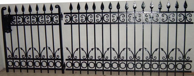 Ornamental Custom Iron Fence Designs Garden Product On Alibaba