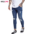 Dark blue high quality distressed 95% cotton 5% elastane custom your design stonewashed branded men ripped jeans
