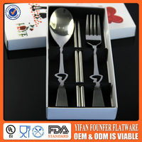box packing wedding chopsticks spoon fork set