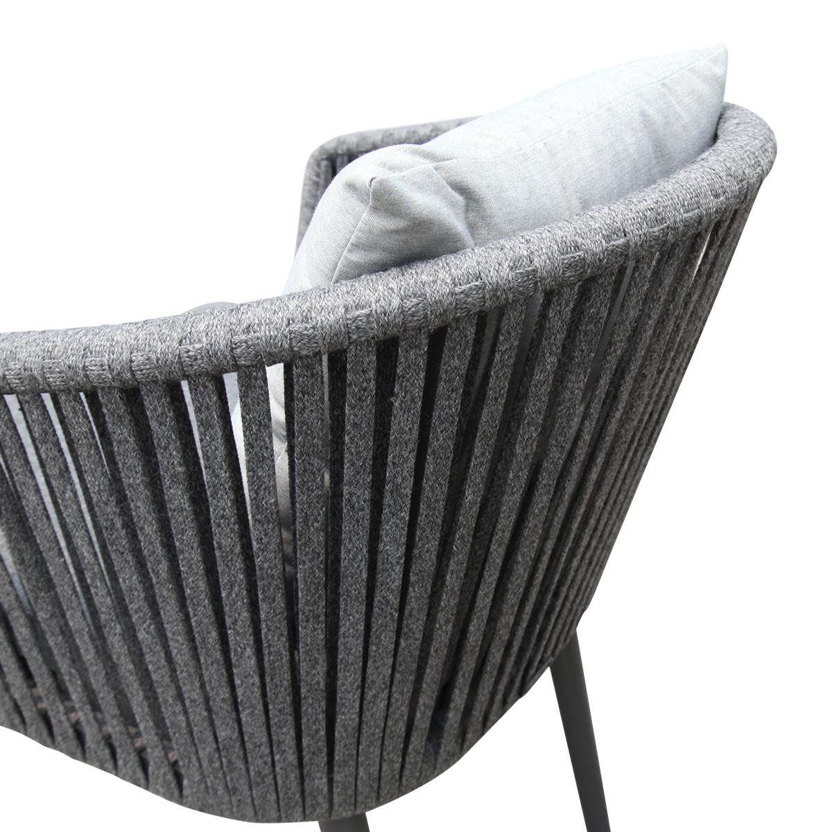 meja taman luaran patio aluminium dengan kerusi tali untuk perabot hotel teres dek