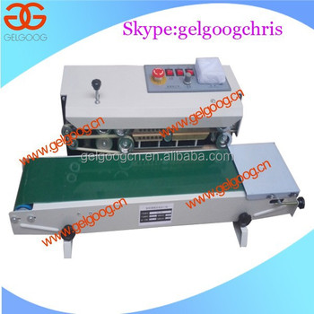 Vertical/Horizontal continuous plastic band sealer machine